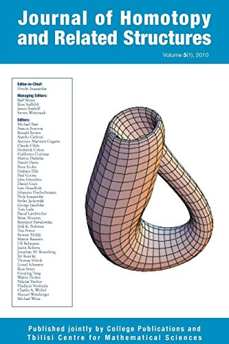 9781848900349: Journal of Homotopy and Related Structures 5(1)