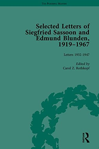 9781848933545: Selected Letters of Siegfried Sassoon and Edmund Blunden, 1919–1967 (The Pickering Masters)