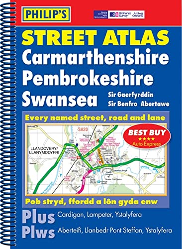 9781849070782: Philip's Street Atlas Carmarthenshire, Pembrokeshire and Swansea (Philip's Street Atlases)