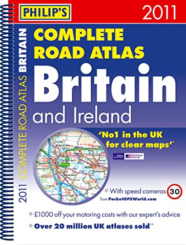 9781849071086: Philip's Complete Road Atlas Britain and Ireland 2011 (Road Atlases)