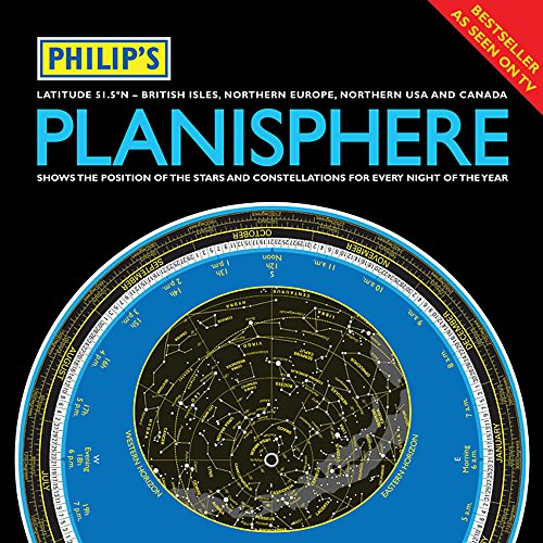9781849071888: Philip's Planisphere (Latitude 51.5 North): For use in Britain and Ireland, Northern Europe, Northern USA and Canada