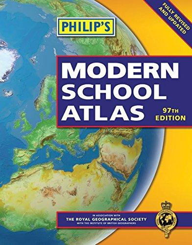9781849071949: Philip's Modern School Atlas: 97th Edition (Paperback)