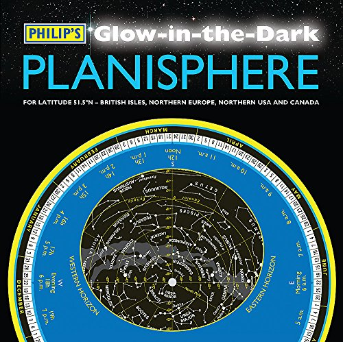 9781849071987: Philip's Glow-in-the-Dark Planisphere (Latitude 51.5 North): For use in Britain and Ireland, Northern Europe, Northern USA and Canada
