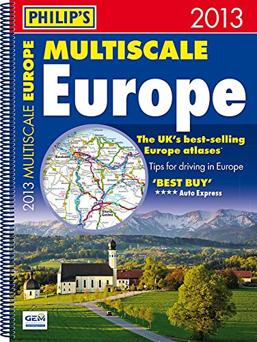 9781849072236: Philip's Multiscale Europe 2013: Spiral A3 (Road Atlas)