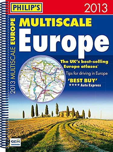 9781849072243: Philip's Multiscale Europe 2013: Spiral A4 (Road Atlas)