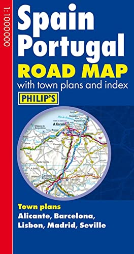 9781849072403: Philip's Spain and Portugal Road Map