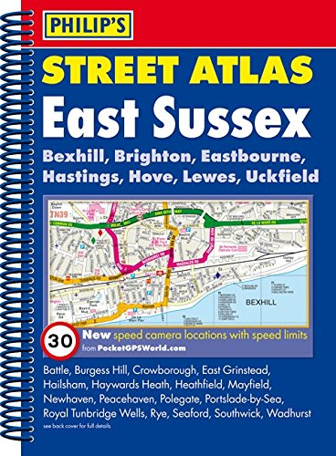 9781849072441: Philip's Street Atlas East Sussex: Spiral Edition