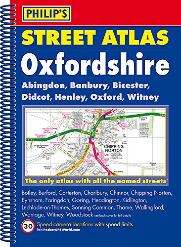 9781849072786: Philip's Street Atlas Oxfordshire 5ED Spiral (New Edition)