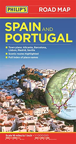 9781849073608: Philip's Spain And Portugal Road Map