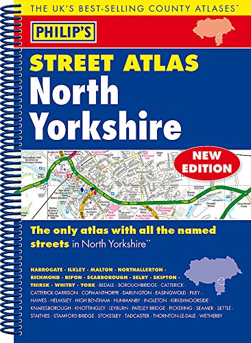 9781849073684: Philip's Street Atlas North Yorkshire: Spiral Edition