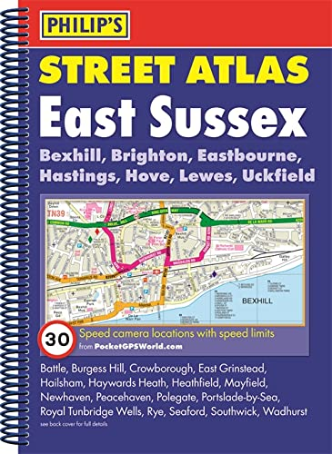 9781849073905: Philip's Street Atlas East Sussex: Spiral Edition