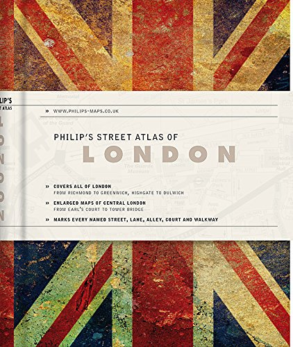 9781849074551: Philip's Gift Edition Street Atlas London - new hardback edition for 2018: De Luxe Edition Union Jack (Philip's Street Atlas)