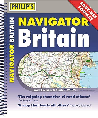 9781849075107: Philip's Navigator Britain Easy Use Format: Spiral (Philip's Road Atlases)