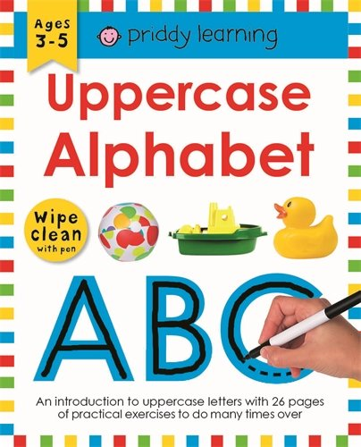 Wipe Clean Work Books: Uppercase Alphabet (1849151520) by Roger Priddy