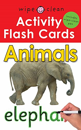 9781849154697: Animals (Wipe Clean Activity Flash Card)