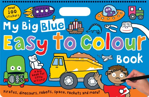 9781849156844: My Big Blue Easy to Colour Book (My Big Easy to Colour Books)