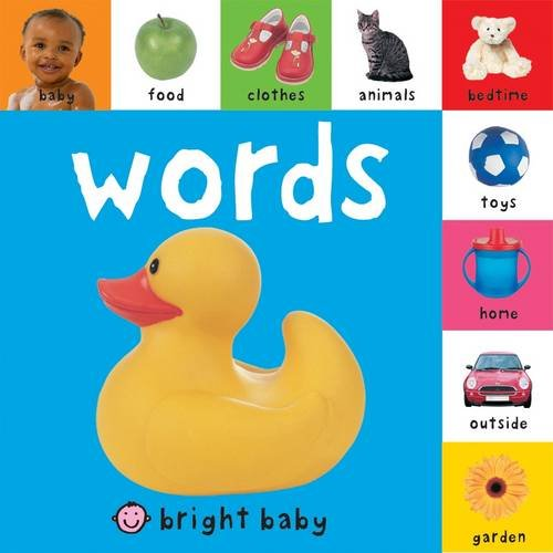 Words (Bright Baby Lift-the-tab Books): Priddy, Roger