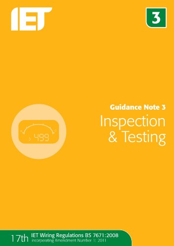 9781849192750: Guidance Note 3: Inspection and Testing