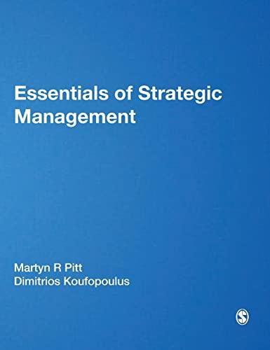 9781849201865: Essentials of Strategic Management