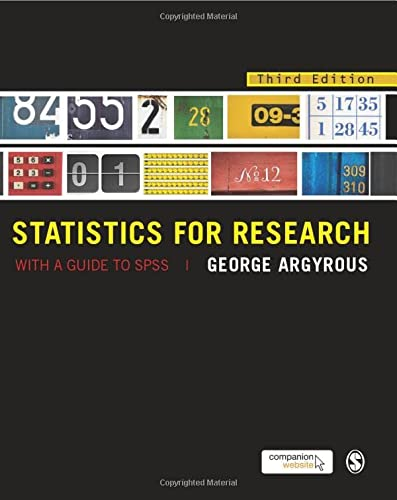 9781849205955: Statistics for Research: With a Guide to SPSS