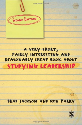 9781849207386: A Very Short Fairly Interesting and Reasonably Cheap Book About Studying Leadership (Very Short, Fairly Interesting & Cheap Books)