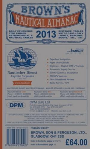 9781849270427: Browns Nautical Almanac 2013