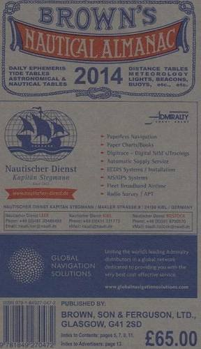 9781849270472: Browns Nautical Almanac 2014