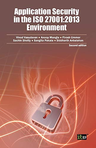 9781849287678: Application Security in the ISO 27001: 2013 Environment