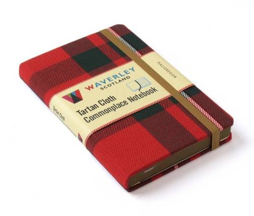 MacGregor Waverley Genuine Tartan Cloth Commonplace Notebook (9cm x 14cm) (Waverley Scotland Tartan...