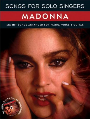 9781849386296: Songs For Solo Singers Madonna Piano Vocal Guitar Book And Cd (Book & CD)