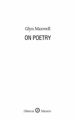 9781849430852: On Poetry (Oberon Masters)