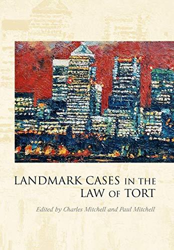 9781849460033: Landmark Cases in the Law of Tort