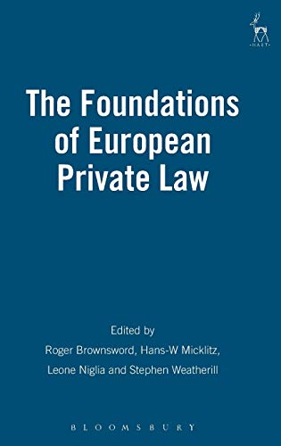 9781849460651: The Foundations of European Private Law