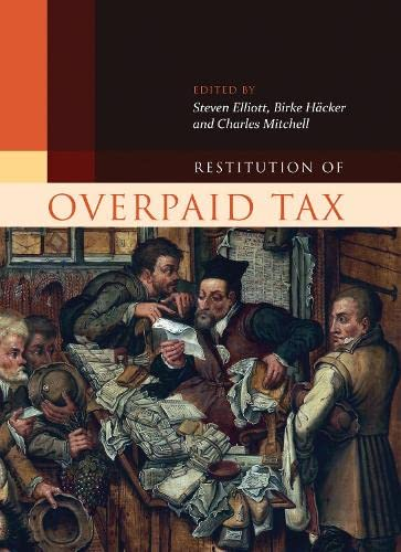9781849461733: Restitution of Overpaid Tax (Hart Studies in Private Law)
