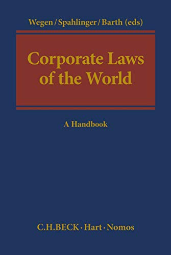 9781849461979: Corporate Laws of the World: A Handbook