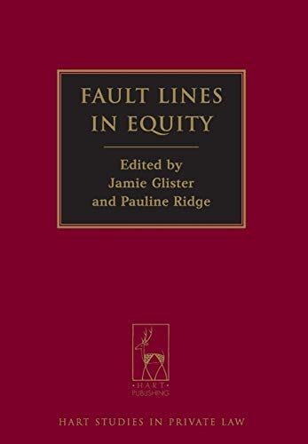 9781849462198: Fault Lines in Equity (Hart Studies in Private Law)