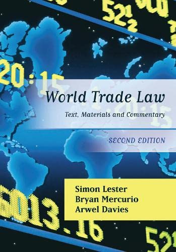 9781849462228: World Trade Law: Text, Materials and Commentary