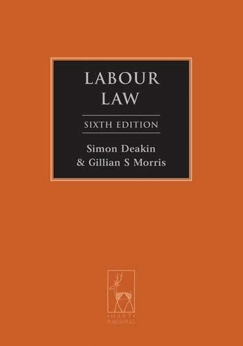 9781849463416: Labour Law: Sixth Edition