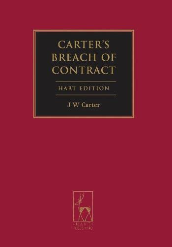 9781849463751: Carter's Breach of Contract: (Hart Edition)