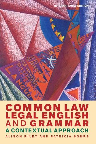 9781849465762: Common Law Legal English and Grammar: A Contextual Approach