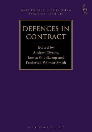 Defences in Contract (Hart Studies in Private