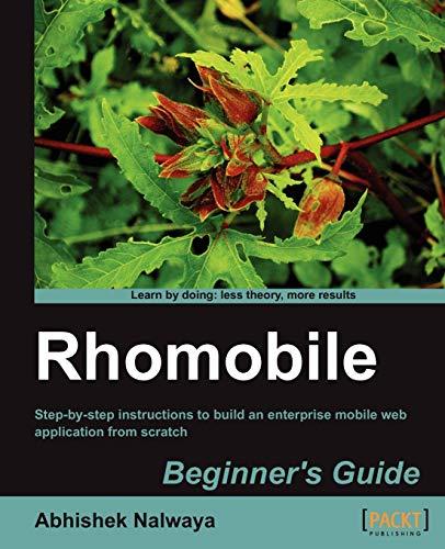 9781849515160: Rhomobile Beginner's Guide