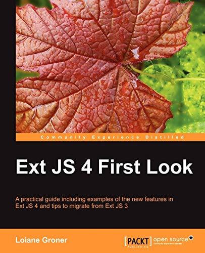 9781849516662: Ext JS 4 First Look