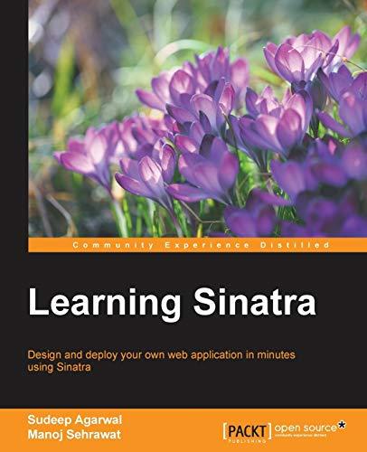 9781849519304: Learning Sinatra