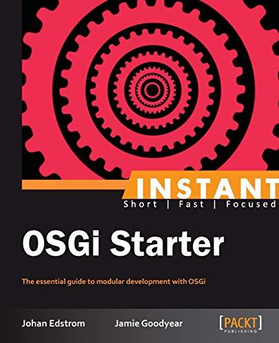 9781849519922: Instant OSGi Starter