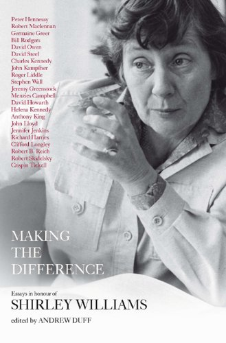 9781849540520: Making the Difference: Essays in Honour of Shirley Williams