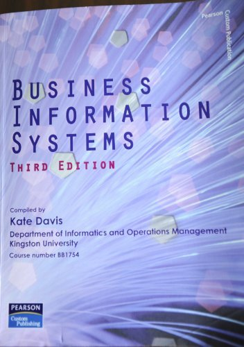 9781849591461: Business Information Systems