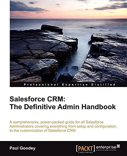 9781849683067: Salesforce CRM: The Definitive Admin Handbook