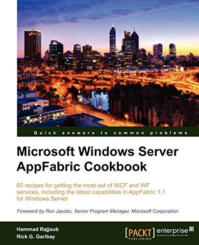 9781849684187: Microsoft Windows Server AppFabric Cookbook