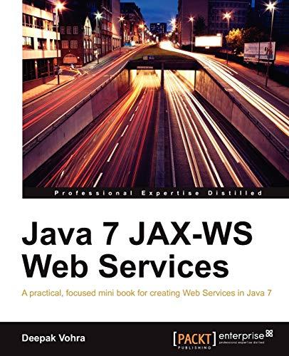 9781849687201: Java 7 JAX-WS Web Services